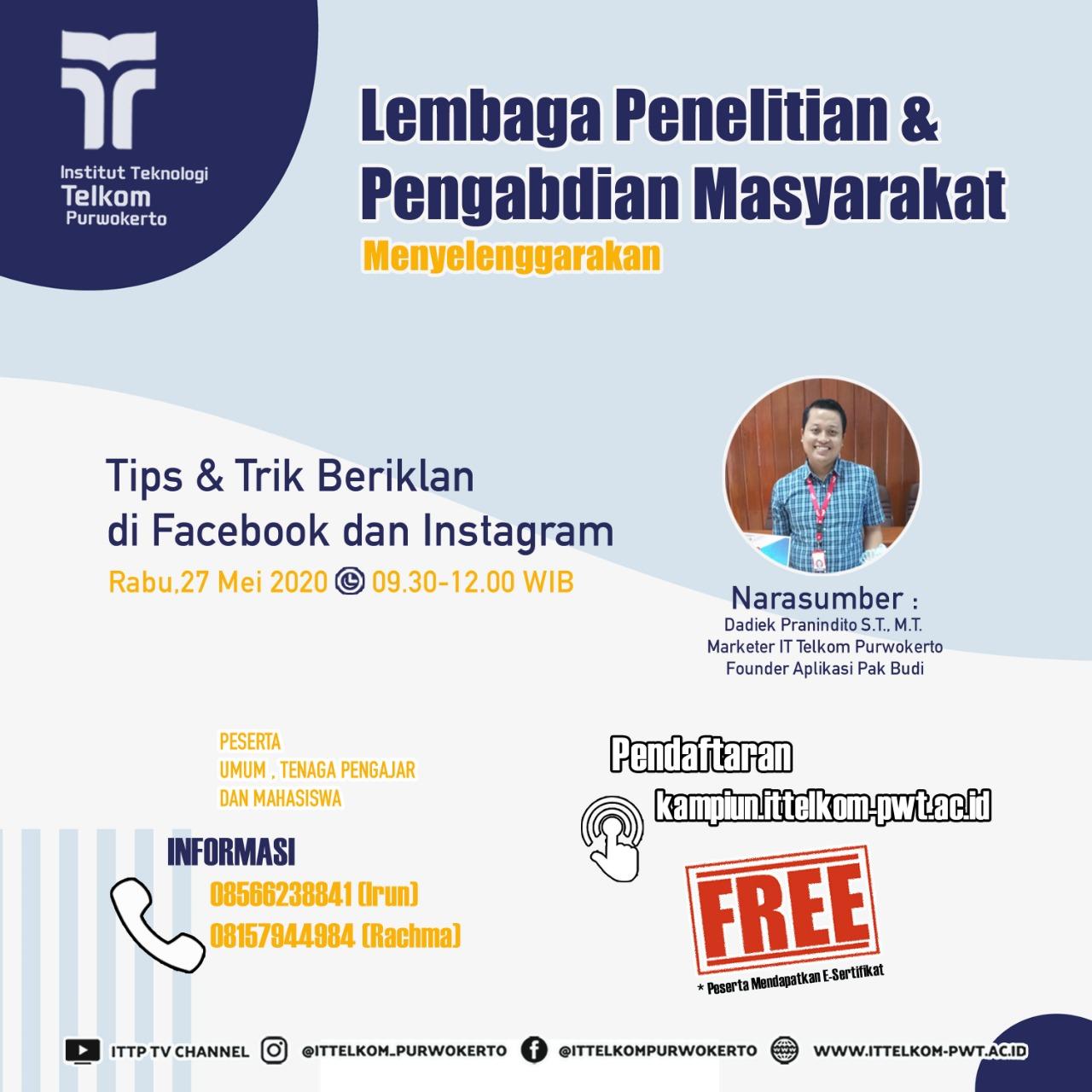 Tips & Trik Beriklan di Facebook dan Instagram