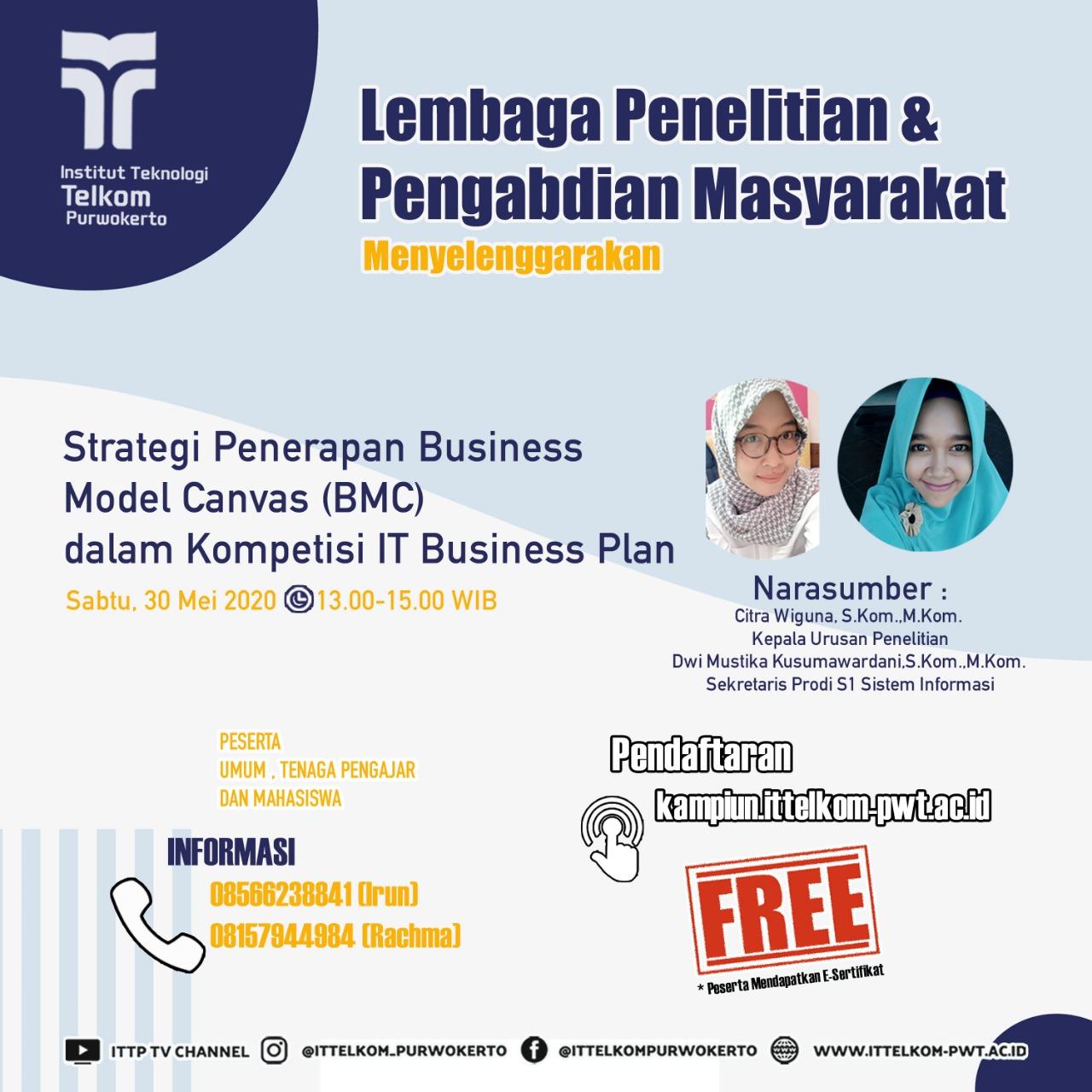 Strategi Penerapan Business Model Canvas (BMC) dalam Kompetisi IT Business Plan