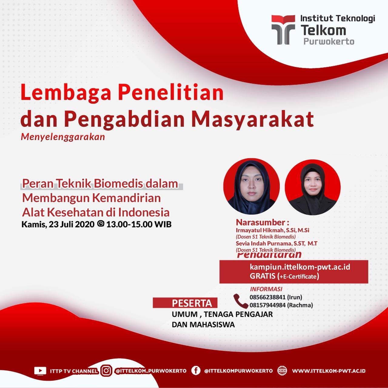 Peran Teknik Biomedis dalam Membangun Kemandirian Alat Kesehatan di Indonesia.