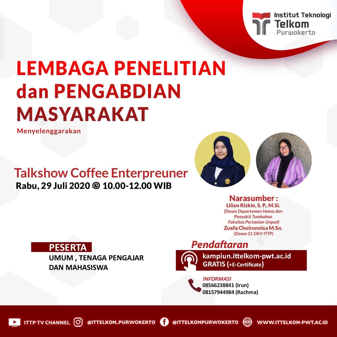 Talkshow Coffee Enterpreuner