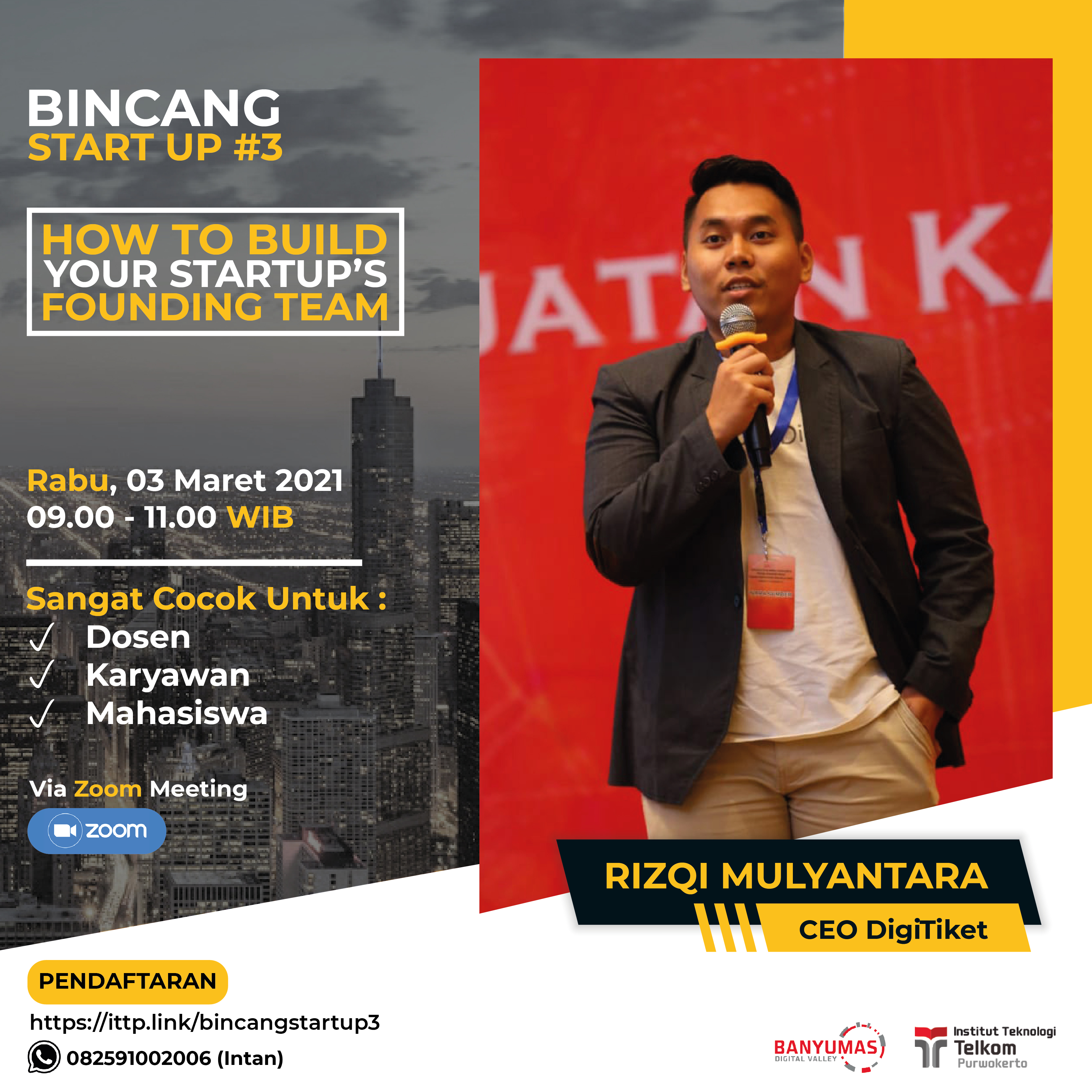 Bincang Start Up #3: How To Build Your Startup's Founding Team