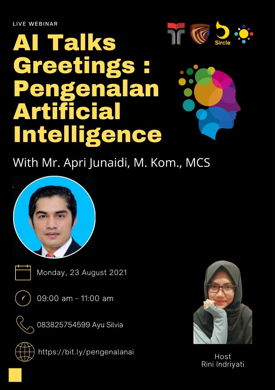 AI Talks Greetings : Pengenalan Artificial Intelligence