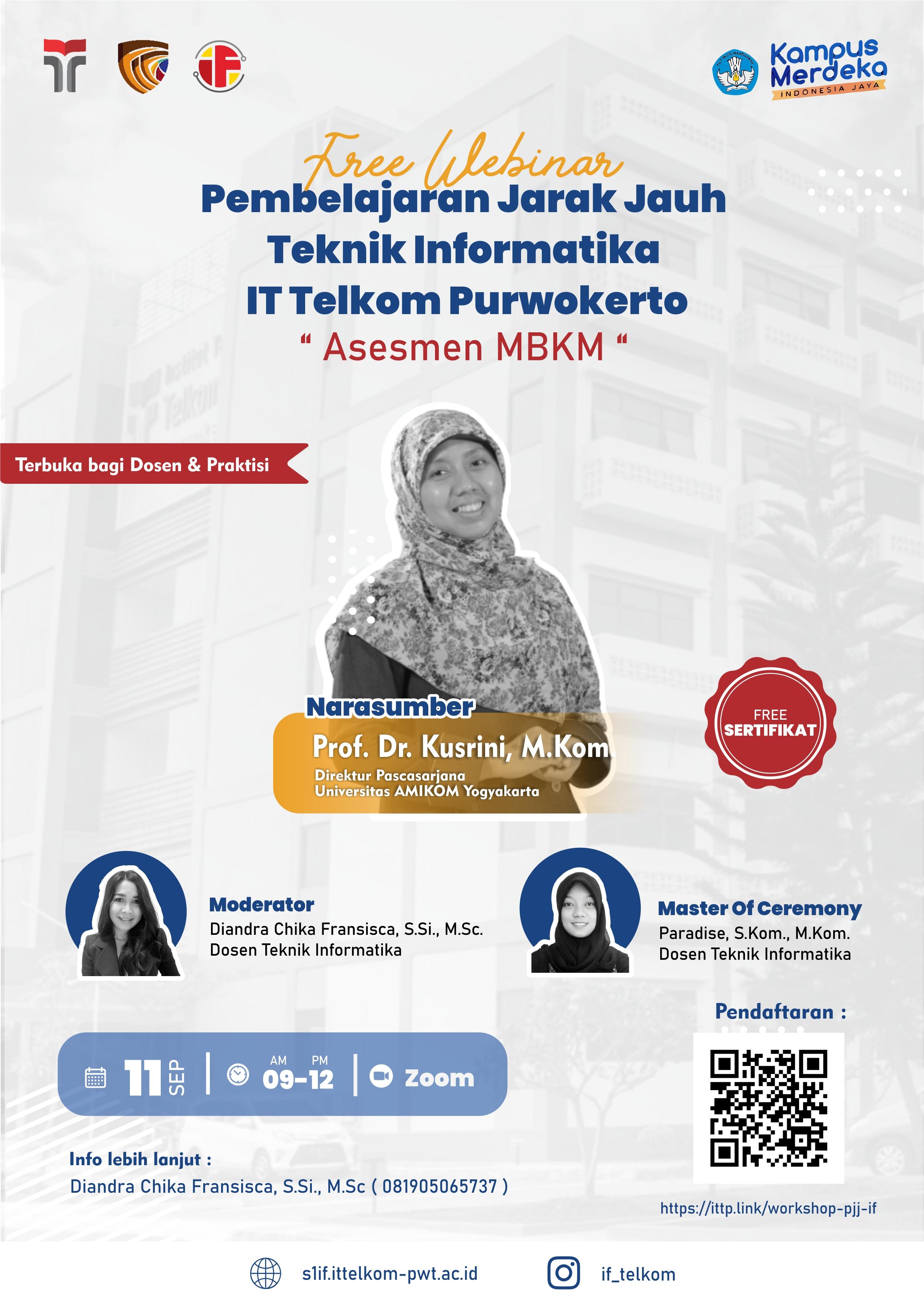 Pembelajaran Jarak Jauh Teknik Informatika IT Telkom Purwokerto
