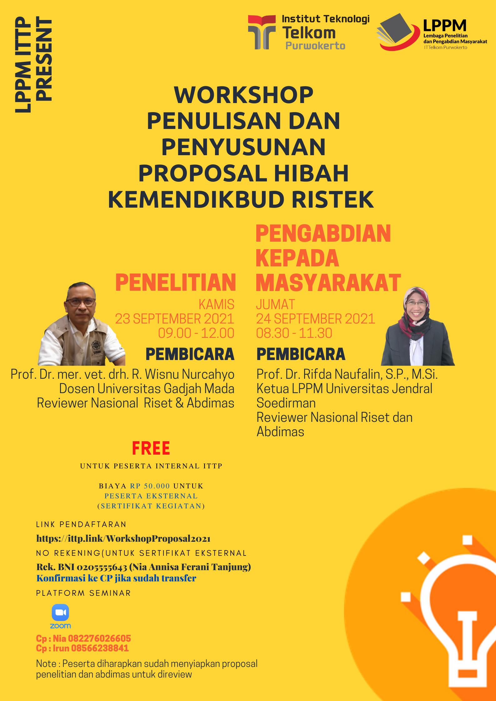 Workshop Penulisan Proposal Penelitian dan Pengabdian kepada Masyarakat Hibah Kemendikbud Ristek